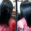 Выравнивание волос кератином